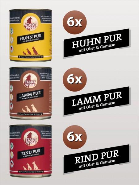 Huhn, Lamm, Rind - 800 Gramm Mix