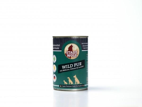Wild pur mit Möhren, Erbsen & Lachsöl