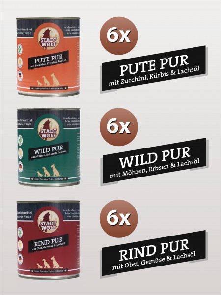 Pute, Wild, Rind - 800 Gramm Mix